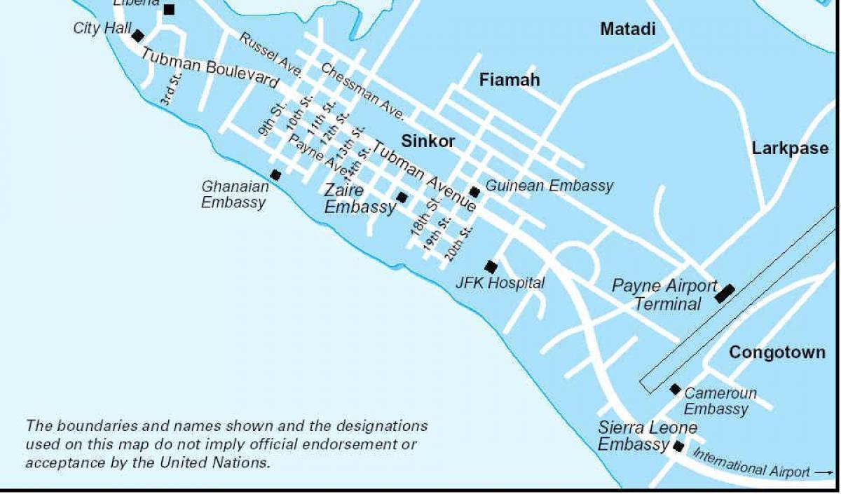 Monrovia Liberiјa Mapa Na Mapata Na Liberiјa Prirodni Resursi
